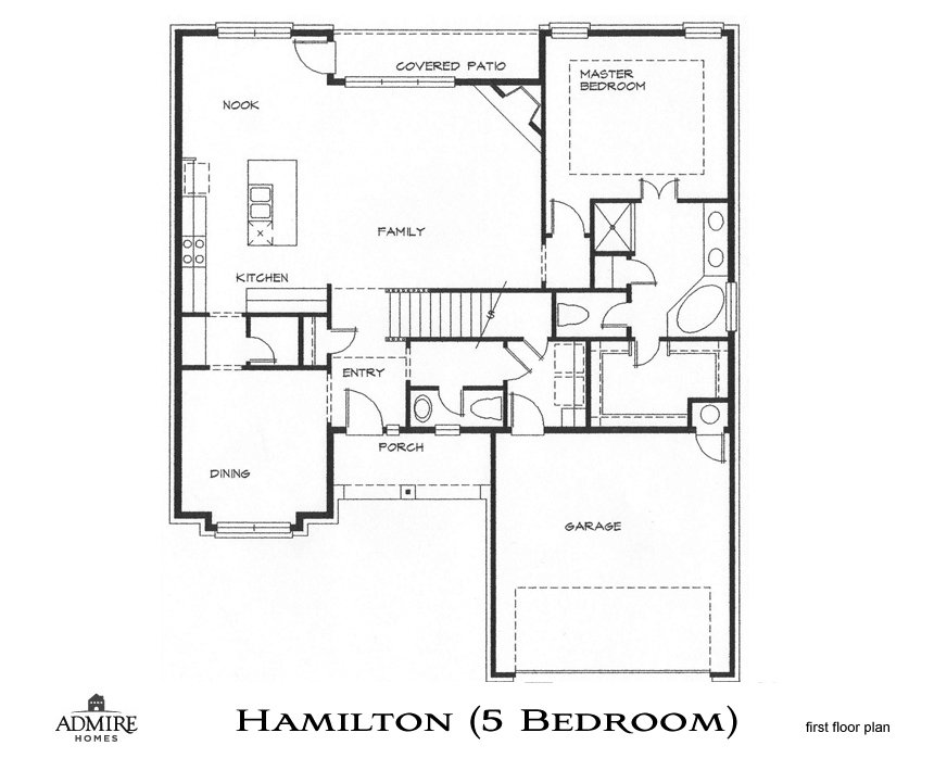 Hamilton with 5 bedrooms admire custom homes for Custom built homes floor plans