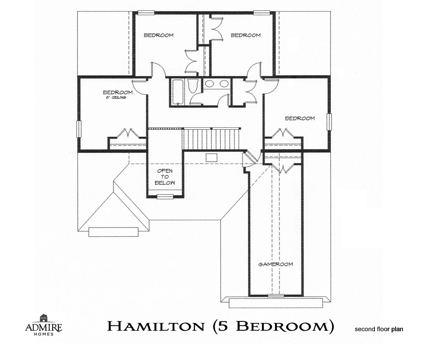 Hamilton with 5 bedrooms admire custom homes for 5br house plans