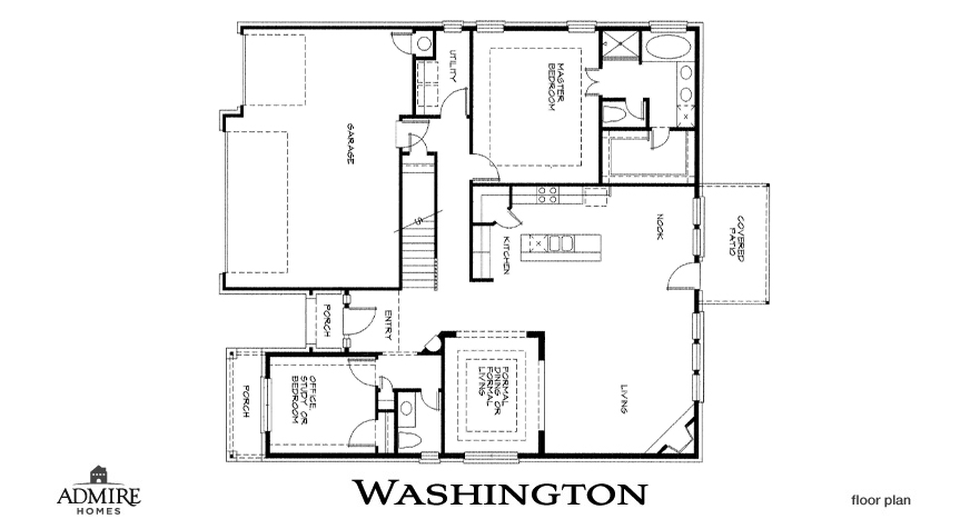 Washington admire custom homes for Custom floor plans for new homes